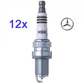 LPG-Bougie Set (12x) Mercedes 240 280 320 350 V6 Twin Spark| NGK Iridium