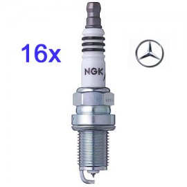 LPG-Bougie Set 16x Mercedes 430 500 55 AMG V8 Twin Spark| NGK Iridium