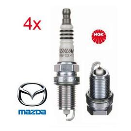 LPG-Bougie Set (4x) MAZDA 323 323F Premacy MPV | NGK Iridium