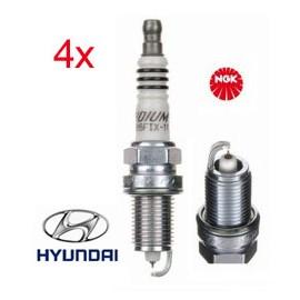 LPG-Bougie Set (4x) Hyundai i20 i30 1.4 1.6 CVVT | NGK Iridium