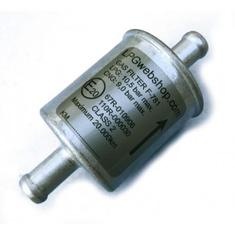 LPG Drooggas Filter 12mm Aluminium Wegwerp