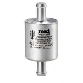 LPG Drooggas Filter MED aluminium wegwerp LSI aansluitingen 2 x 14mm